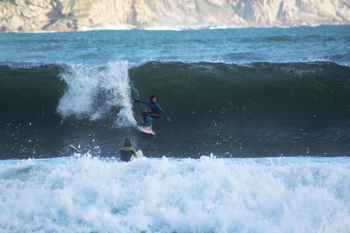 Luca Novak charging Hout Bay