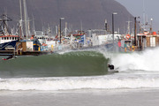 Hout Bay Harbour wall bottom turn