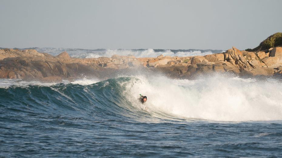 Always overhead & cooking when bodysurfing.