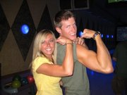 Me and sis flexing muscles
