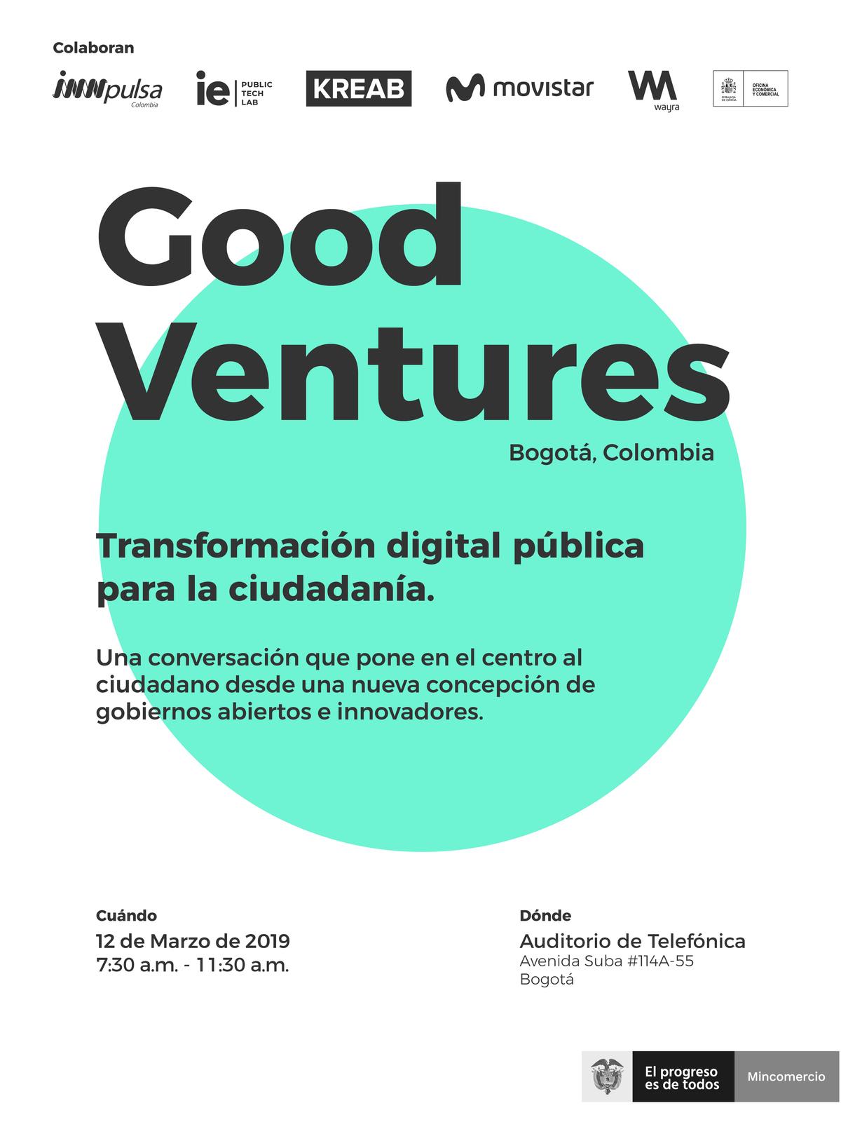Lo que pasó en ... Good Ventures: Innovación para crear valor público