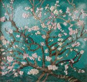 Van Gogh Almond Blossoms in threads by dk (3)