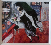 Chagall's The Birthday in threads by Dina Kassel