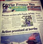 Front Page of the Fresno Bee