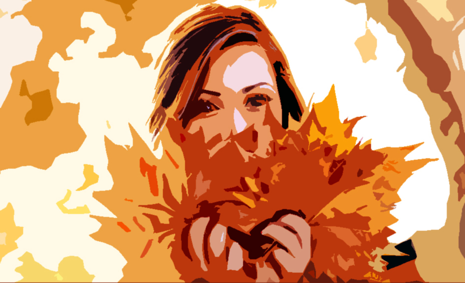 Abstract Of Autumn Girlfriend
