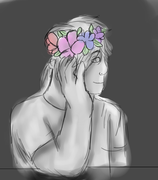 lalna flower crown