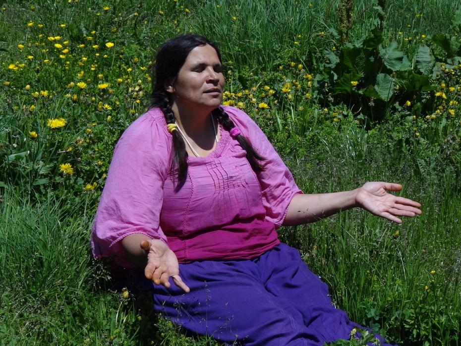 en communion avec Dame Nature
