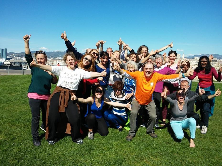 Yoga du rire au Pharo 10.04.2016