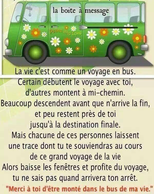 La vie c'est comme un voyage en bus