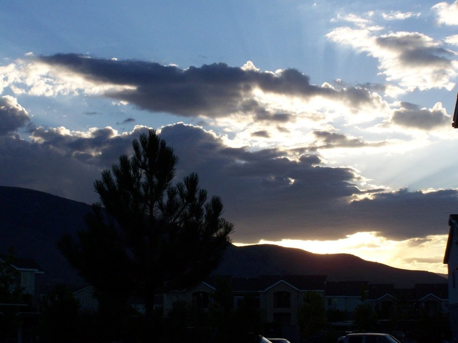 out my window in Reno...