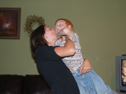 oldest daughter Teran-3rd child, kissing Ean the youngest