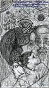 CONVERGENCE-THE ETERNAL NOW (an artwork-pencil sketch by Maria Celeste Garcia)2007