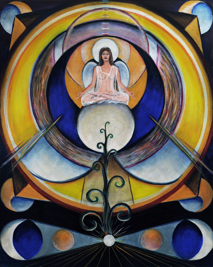 Meditating Geometric Angel