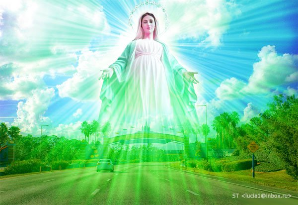 Mother Mary shining