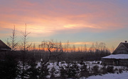 Sunrise in our ecovillage