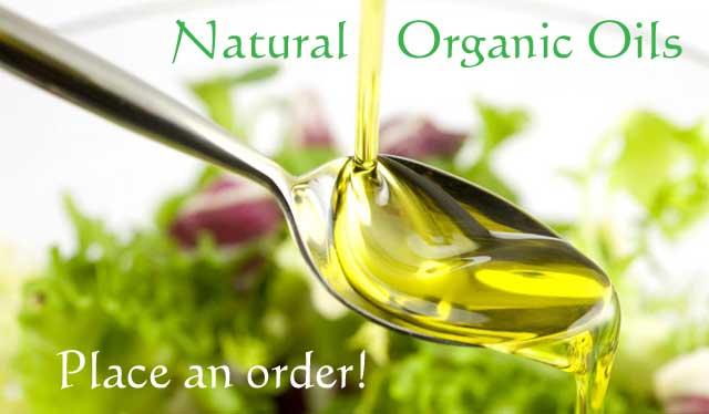 Cold pressed natural oils