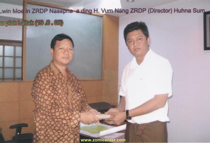 Actor Lwin Moe in Zomite panpih