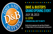 Dave & Buster's Grand Opening Charity Event!