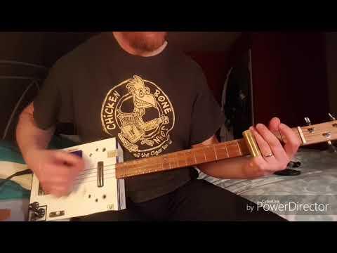How to play Down On The Farm by Seasick Steve on Cigar Box Guitar
