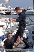12 july, Josh Hartnett arriving in Ischia