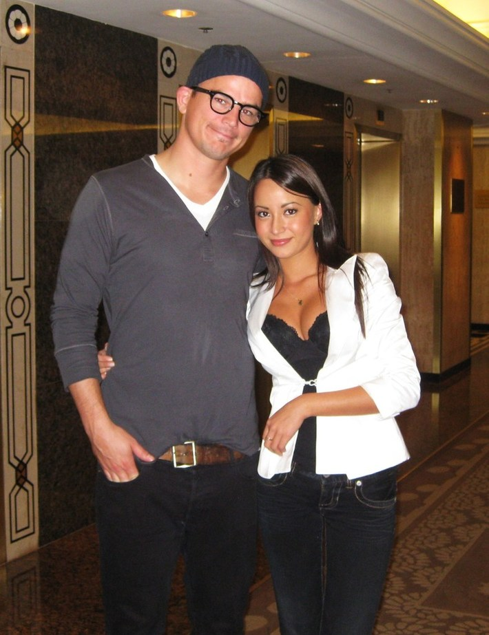 Josh and me at his hotel