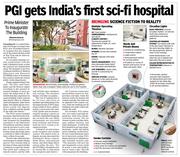 PGI Nehru Hospital Extension Block Digital Illustration