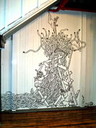 Wall drawings and installations 2010-2011.