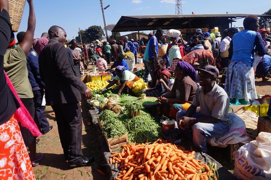Women promoting a nutrition basket