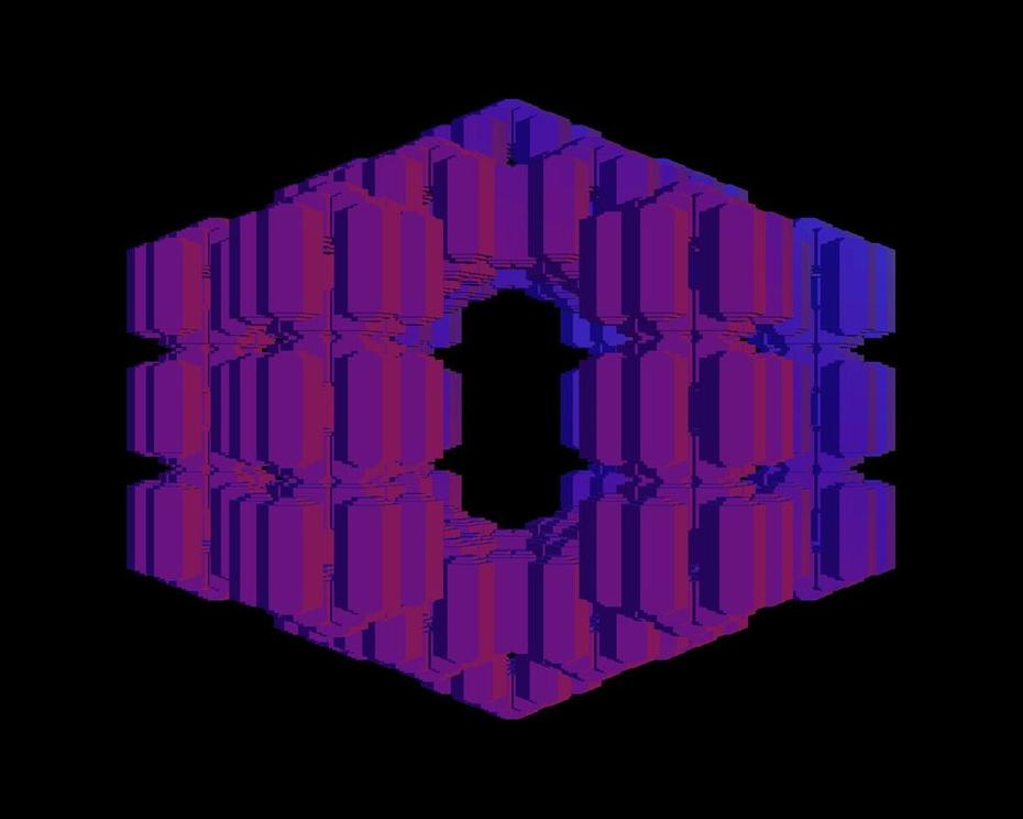 MengerD_6_2p25_level3_hexagons_Rainbow