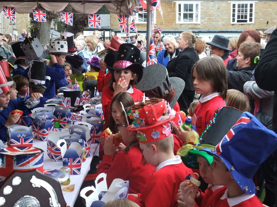 Mad Hatters Tea Party - Sherborne Queen visit