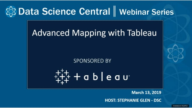 DSC Webinar Series: Advanced Mapping with Tableau