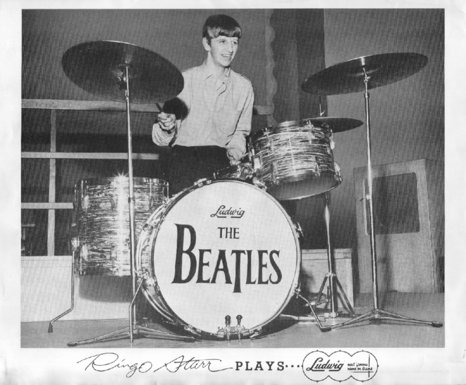 Ringo with Ludwig Drums