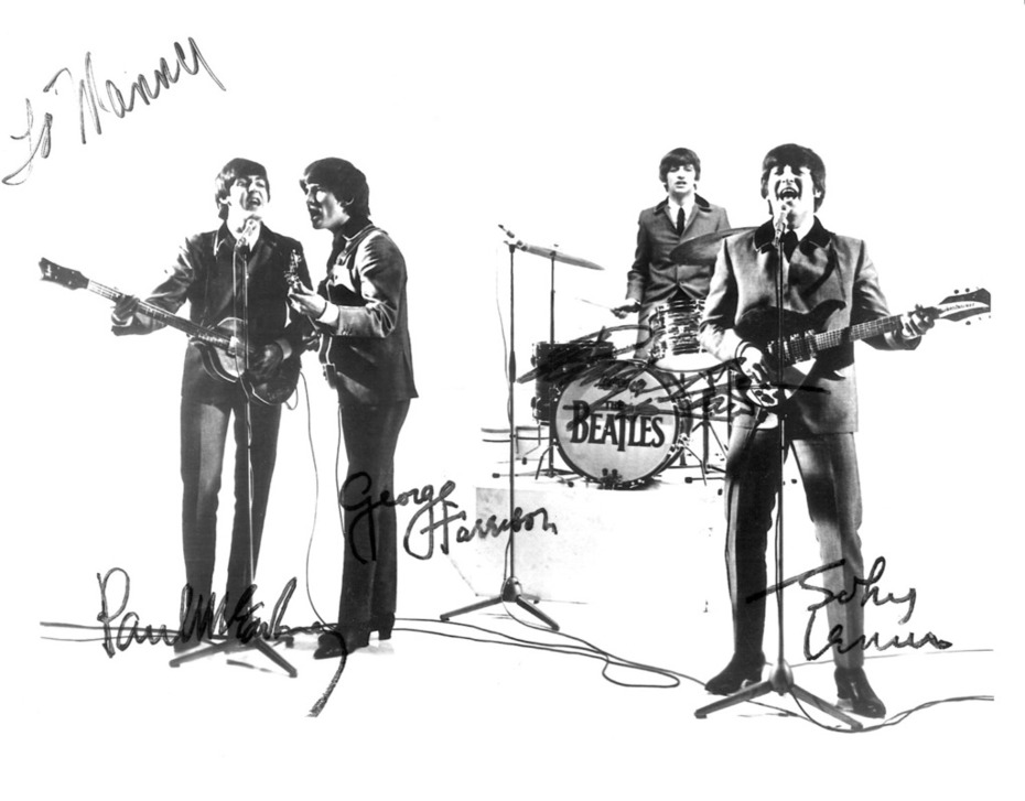 """To Manny's John Lennon, Paul McCartney,George Harrison, Ringo Starr"""