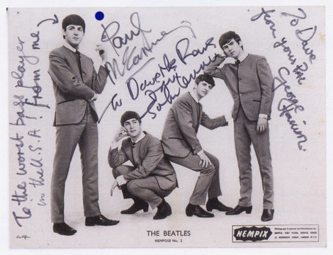 Signed Photo of Beatles, similar to one on Manny's Wall sold at Christies for $7,200