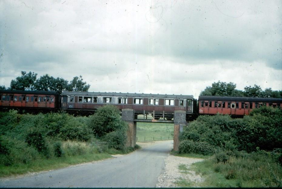LNWR 12 wheeler stored at Quinton c.1960