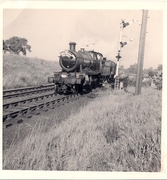 28.1 October 12 1963. 6368 and 2246 leave Woodford Halse for Byfield
