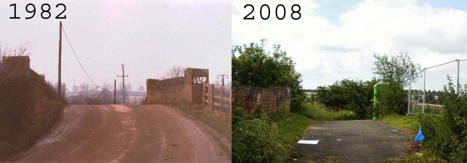 Towcester Bridge 149 then and now