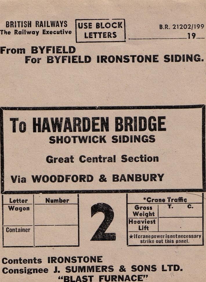 Byfield Ironstone Wagon Label