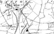 Map of late 1800's Gayton