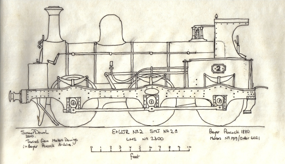 E&WJR No2 Drawing