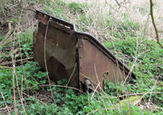 Blisworth Quarries - abandoned iron-ore tipper wagon body