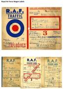 Royal Air Force Wagon Labels