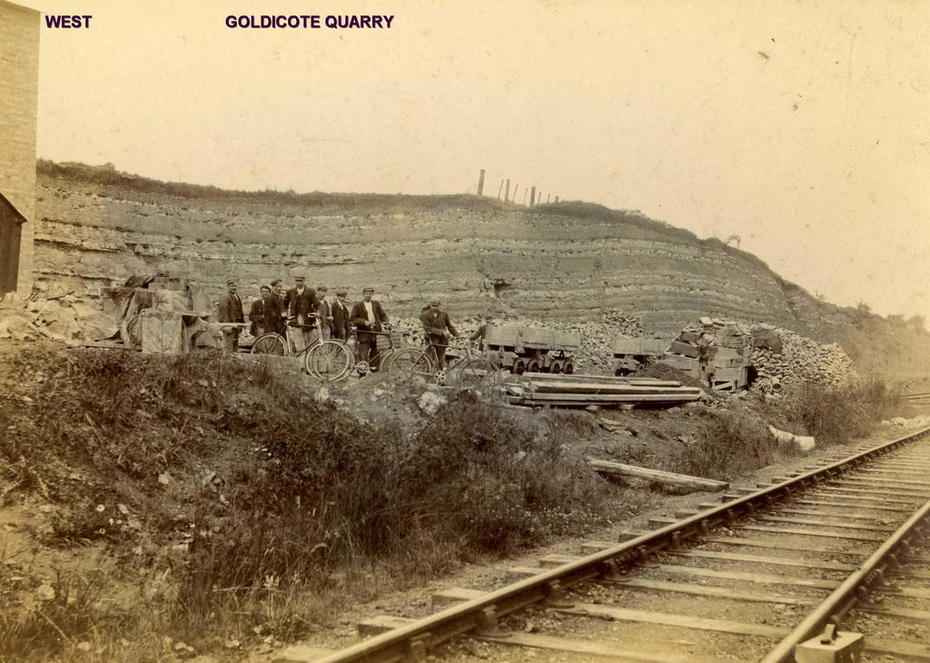 E & W Main line running along Ettington Limeworks quarry at Goldicote