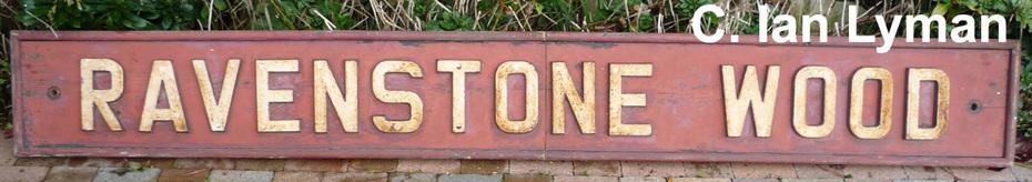 Ravenstone Wood Signalbox name plates