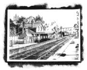 Towcester Station (A Lined sketch)