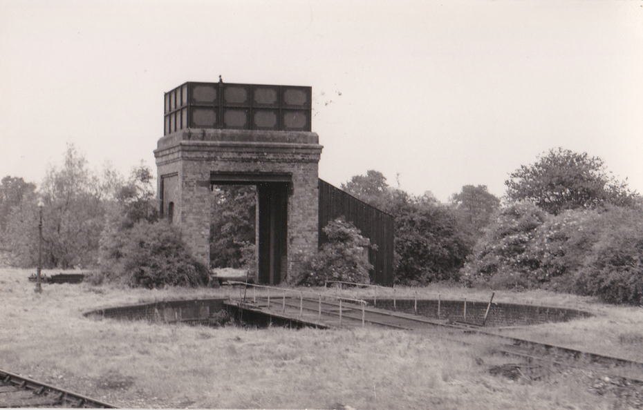 Water tower and turntable at Olney