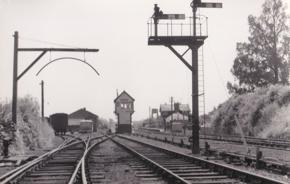 Towcester station looking west