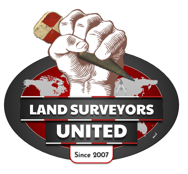 Land Surveyors United 🗺 Global Land Surveying Community Logo
