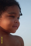 Trajan's 1st time at the Beach