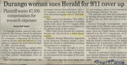 Durango Herald Lawsuit/Court Date 06/01/06